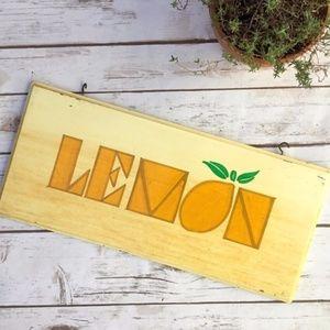 Vintage Wooden Lemon Shabby Ice Cream Sign